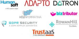 ITOSZ GDPR Konferencia támogató logók