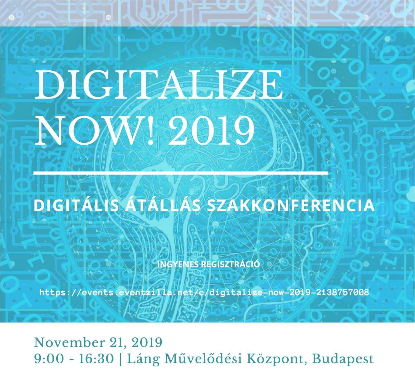Digitalize now! 2019 - Esemény borító - Itosz.hu